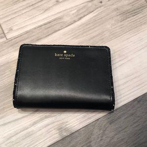 Kate Spade Black Glitter Wallet